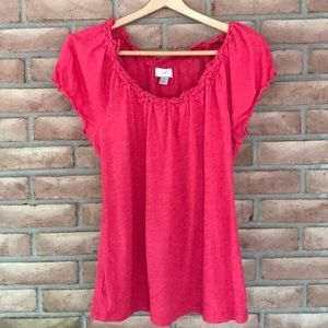 Loft size M short sleeved, bright pink top